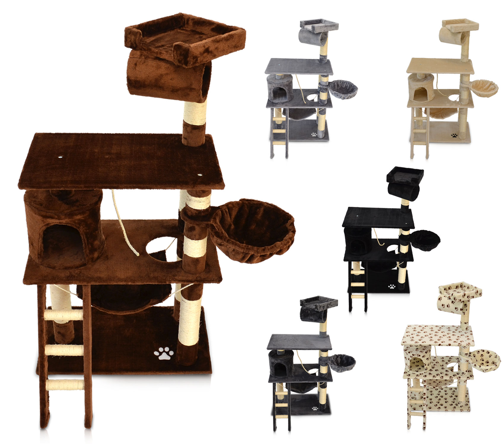kratzbaum katzenkratzbaum kletterbaum katzenbaum katzen spielbaum sisal 6 farben ebay. Black Bedroom Furniture Sets. Home Design Ideas